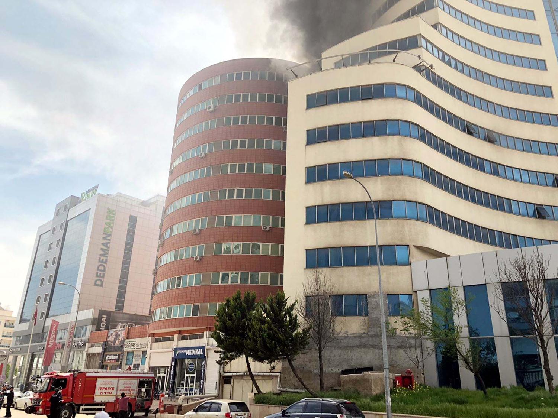 Boş otelde yangın!