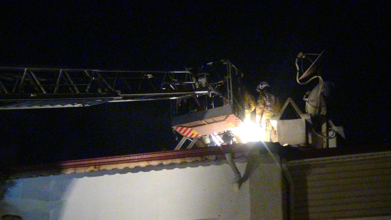 Villada yangın çıktı