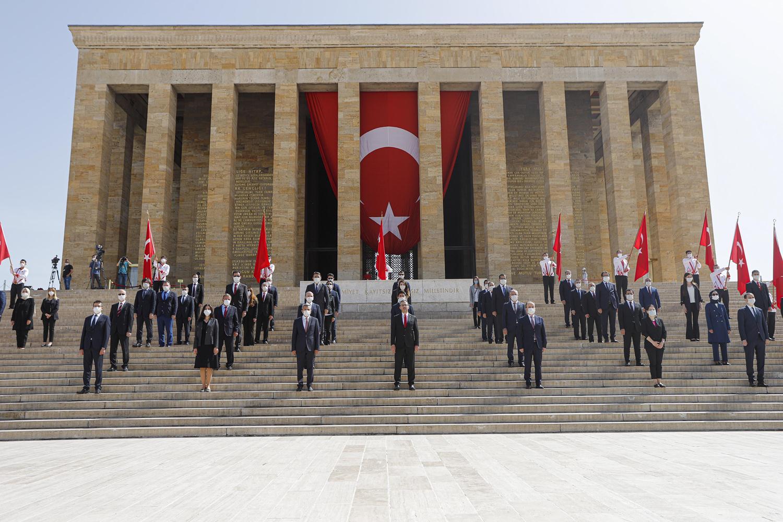 Anıtkabir'de 19 Mayıs töreni