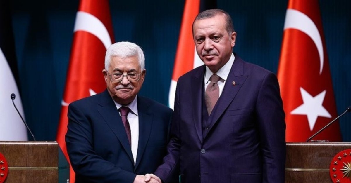 Başkan Erdoğan Filistin Devlet Başkanı ile telefonda görüştü