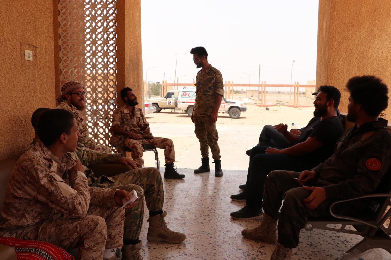 Libya ordusunun cephe hattındaki hazırlıkları böyle görüntülendi!