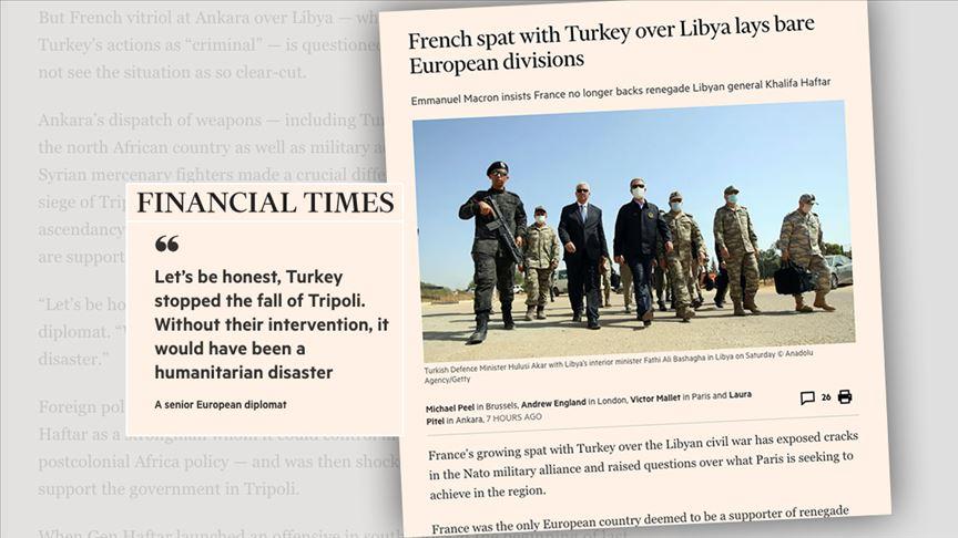 Financial Times yazdı: Hafter Fransa için artık yük