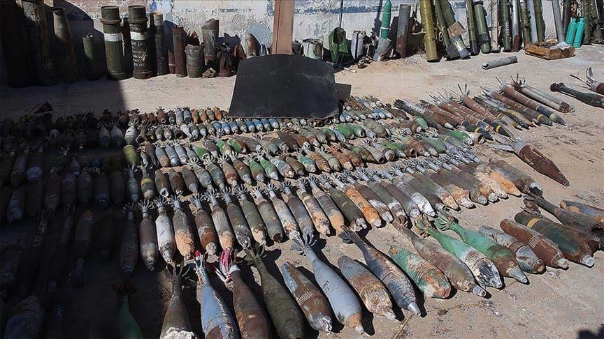 Libya'da 10 ton patlayıcı imha edildi