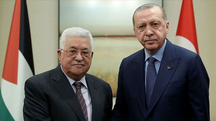 Başkan Erdoğan ile Filistin Devlet Başkanı Mahmud Abbas görüştü