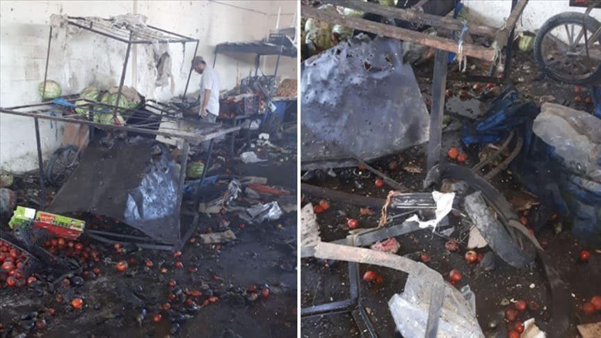 Rasulayn'da pazar yerine bombalı terör saldırısı: 5 ölü