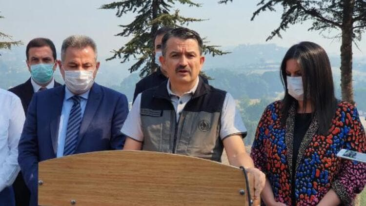 Bakan Pakdemirli'den Adana'daki yangınla ilgili açıklama: Sabah itibariyle yangın tamamen kontrol altında