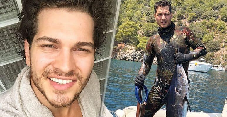 Çağatay Ulusoy yakaladığı balıkları sosyal medya hesabından 'Palamutçulaaaar' notuyla paylaştı