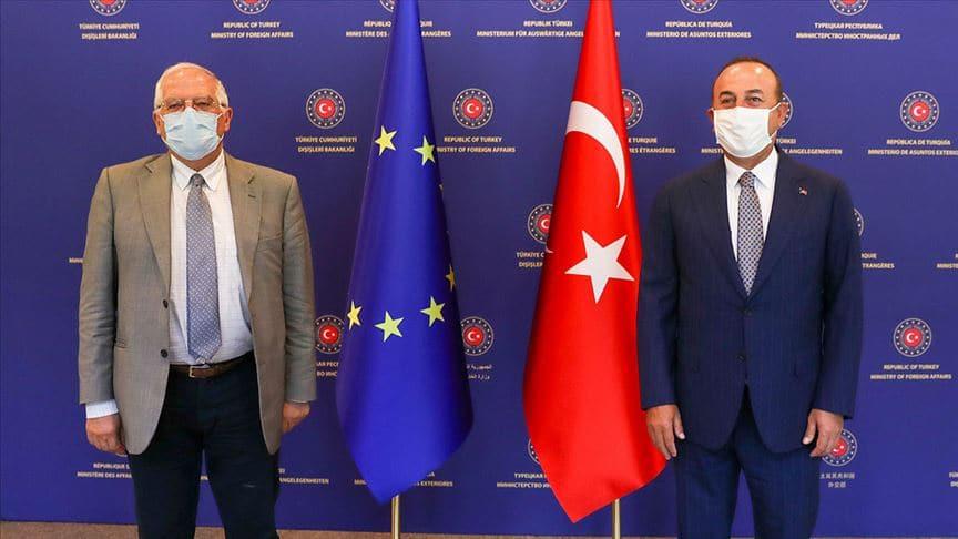 Bakan Çavuşoğlu Borrell ile Doğu Akdeniz'i görüştü