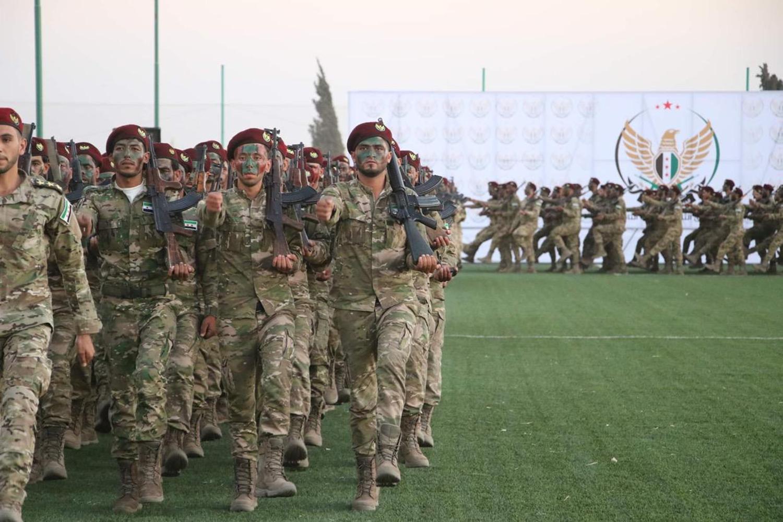 Suriye Milli Ordusu saflarını güçlendirdi! 1000 yeni asker katıldı