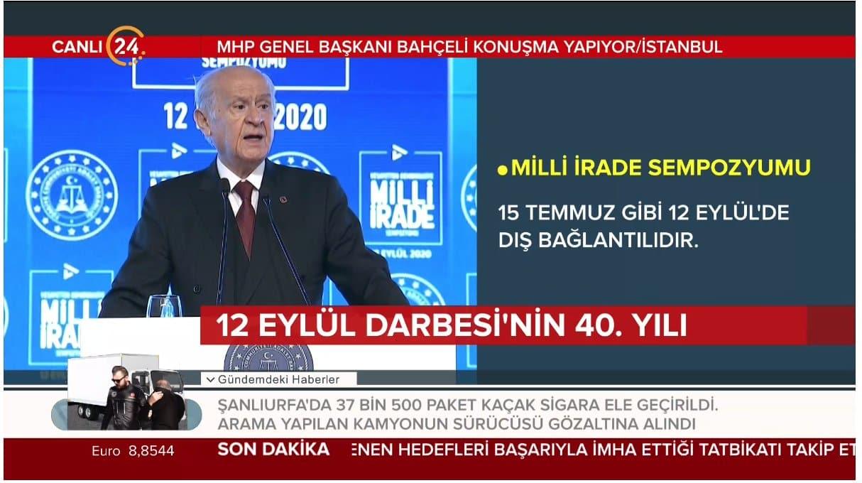 MHP Lideri Devlet Bahçeli'den önemli açıklamalar: 12 Eylül zulümdür, rezalettir