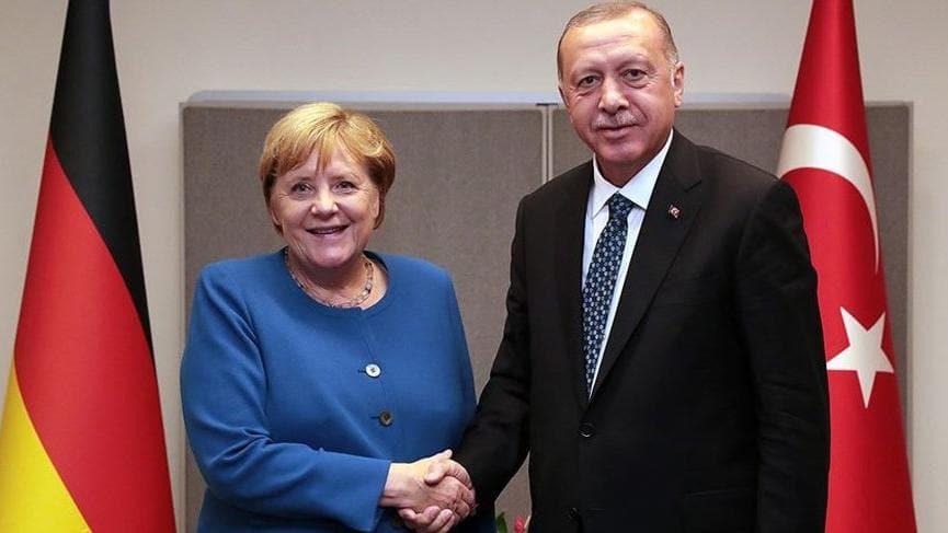 Başkan Erdoğan, Almanya Başbakanı Merkel ile görüştü
