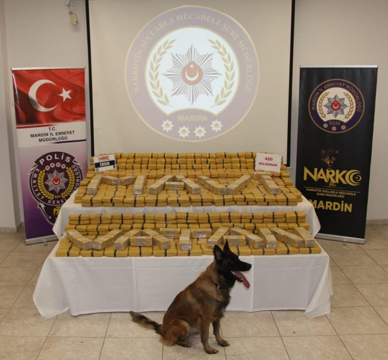 Mardin'de uyuşturucu operasyonu! 420 kilo eroin yakalandı