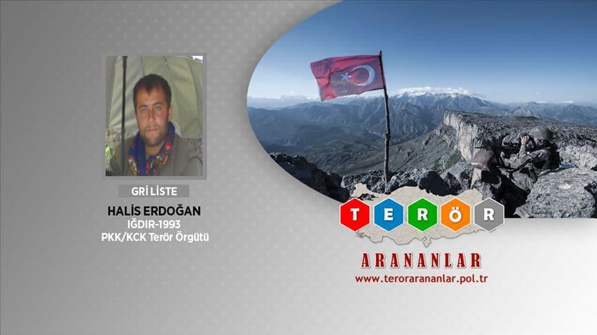 İçişleri Bakanlığı: Gri kategorideki Halis Erdoğan ölü ele geçirildi