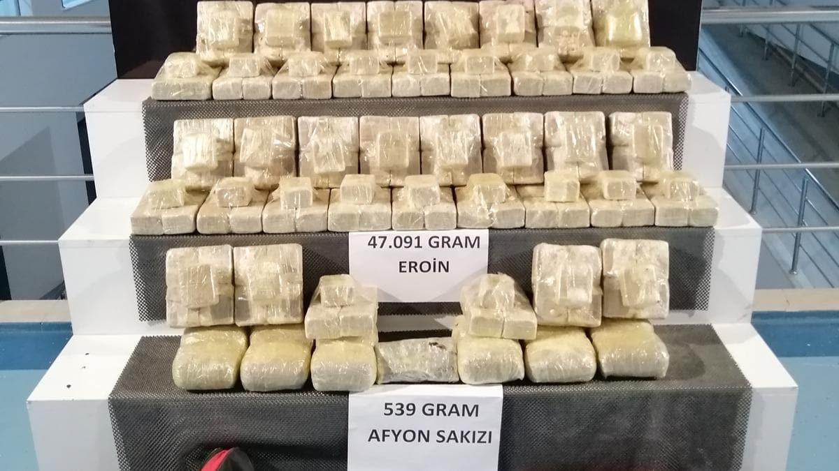 Adana'da zehir tacirlerine operasyon! 47 kilo eroin yakalandı