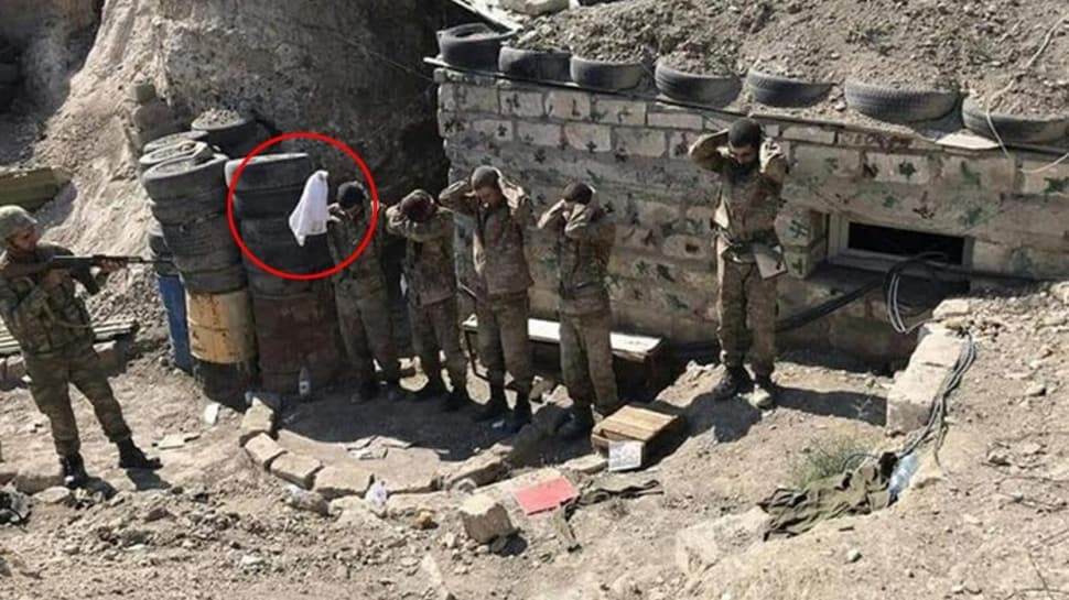 Haydut devlet Ermenistan'ın askerleri böyle teslim oldu... Beyaz bayrak açtılar