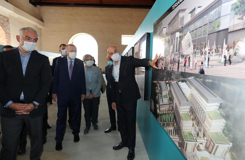 Başkan Erdoğan, Tersane İstanbul'da incelemelerde bulundu