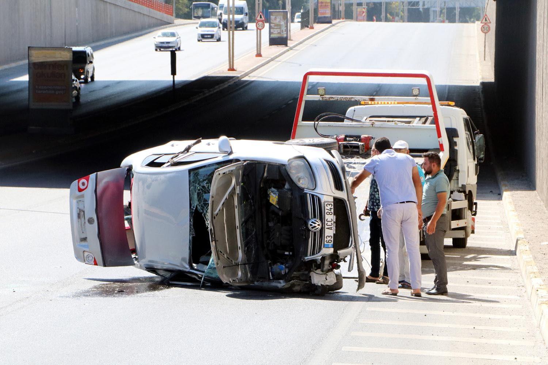 Şanlıurfa'da ilginç kaza... Bırakıp kaçtılar!