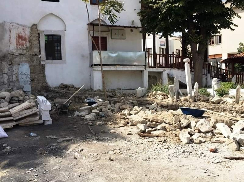 Hacı İbrahim Ağa Camisi'nde restorasyon başladı