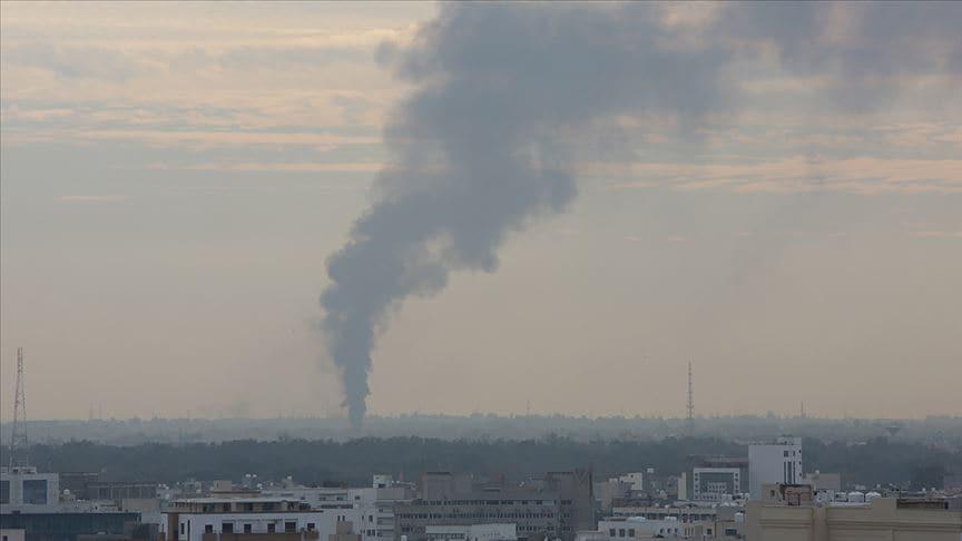 Libya ordusuna ait Cenzur bölgesindeki mühimmat deposunda patlama meydana geldi