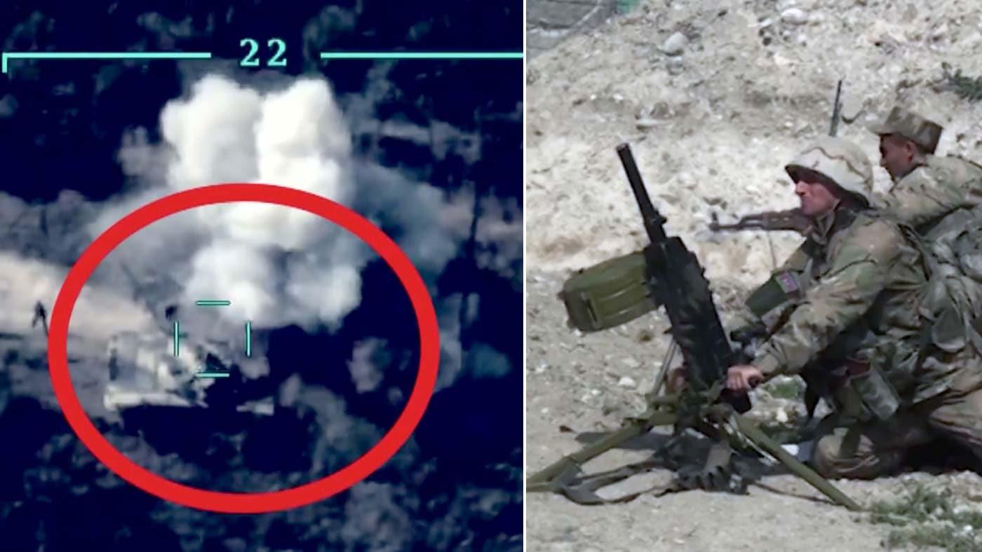 Azerbaycan ordusu işgalci Ermenistan'a ait ana mühimmat deposunu imha etti