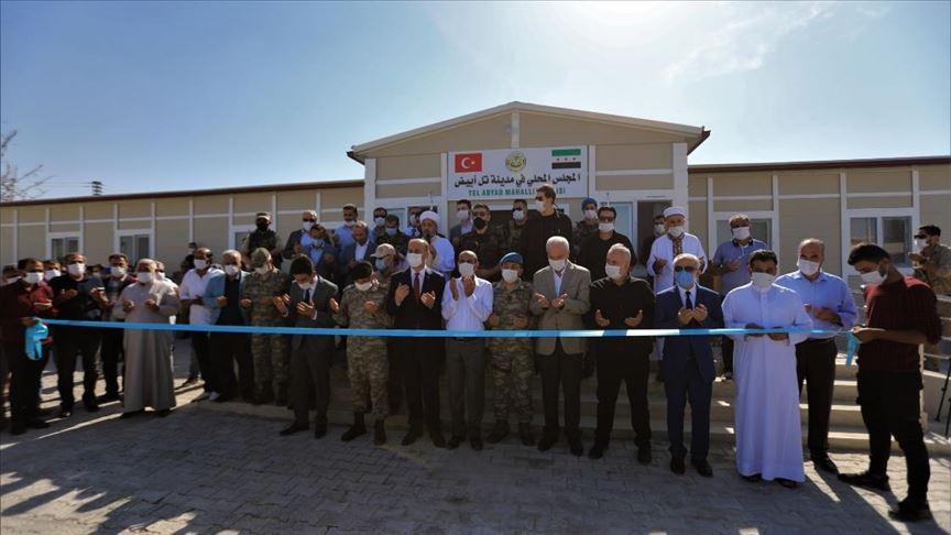 Tel Abyad'ın yeni Yerel Meclis binası törenle açıldı