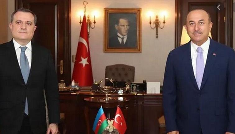 Çavuşoğlu, Azerbaycan Dışişleri Bakanı ile görüştü