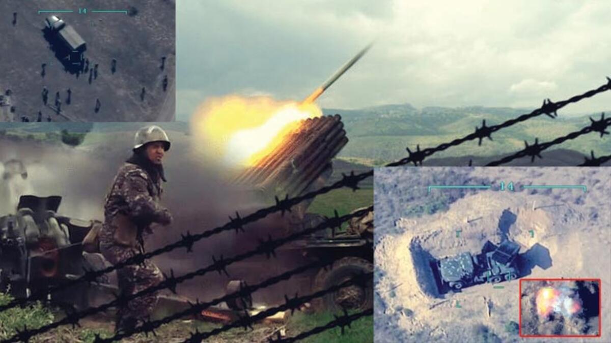 Ermeni askerleri silahlarını bırakıp kaçtı!
