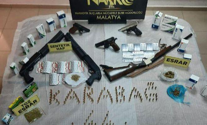Malatya'daki uyuşturucu operasyonunda 3 kişi gözaltına alındı