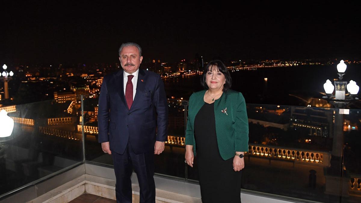 TBMM Başkanı Şentop, Azerbaycanlı mevkidaşı Gafarova ile görüştü