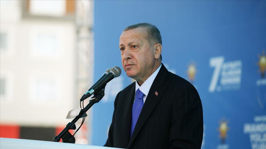 Başkan Erdoğan: Devletimiz tüm imkanlarıyla İzmir'in yanında