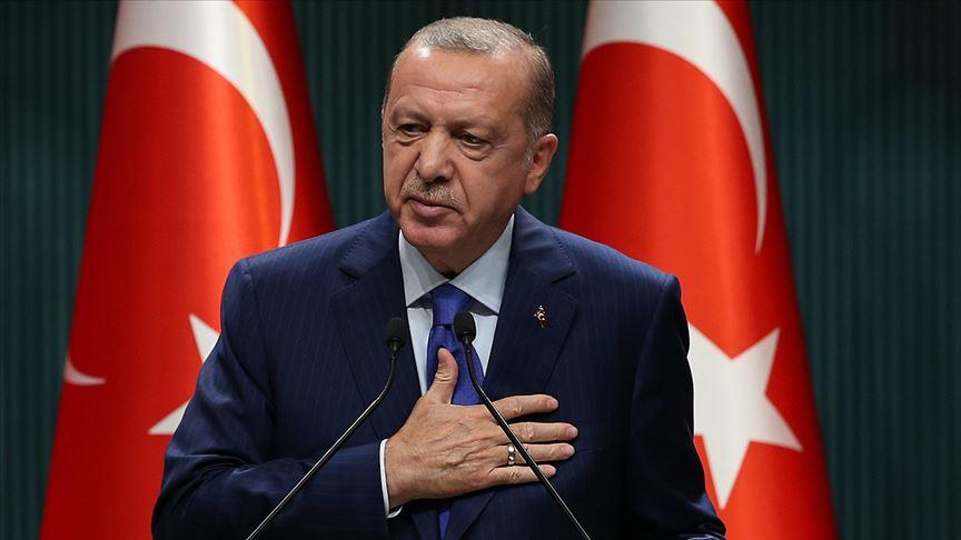 Başkan Erdoğan'dan teşekkür mesajı