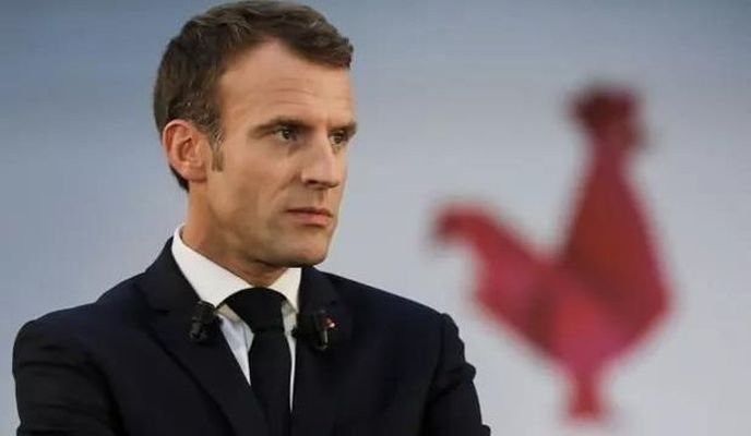 Fransız Macron'un ifade özgürlüğü de bu kadar olur!