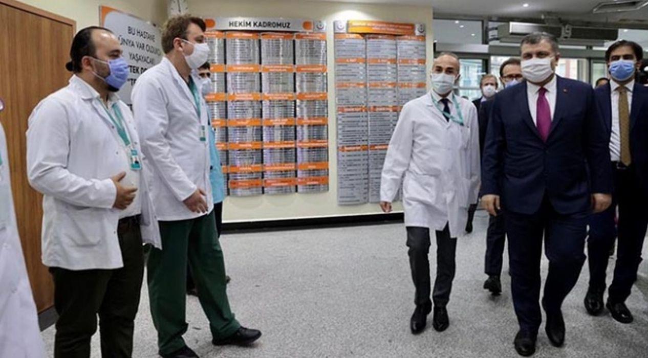 Bakan Koca'dan İstanbul'daki devlet hastanelerine ziyaret
