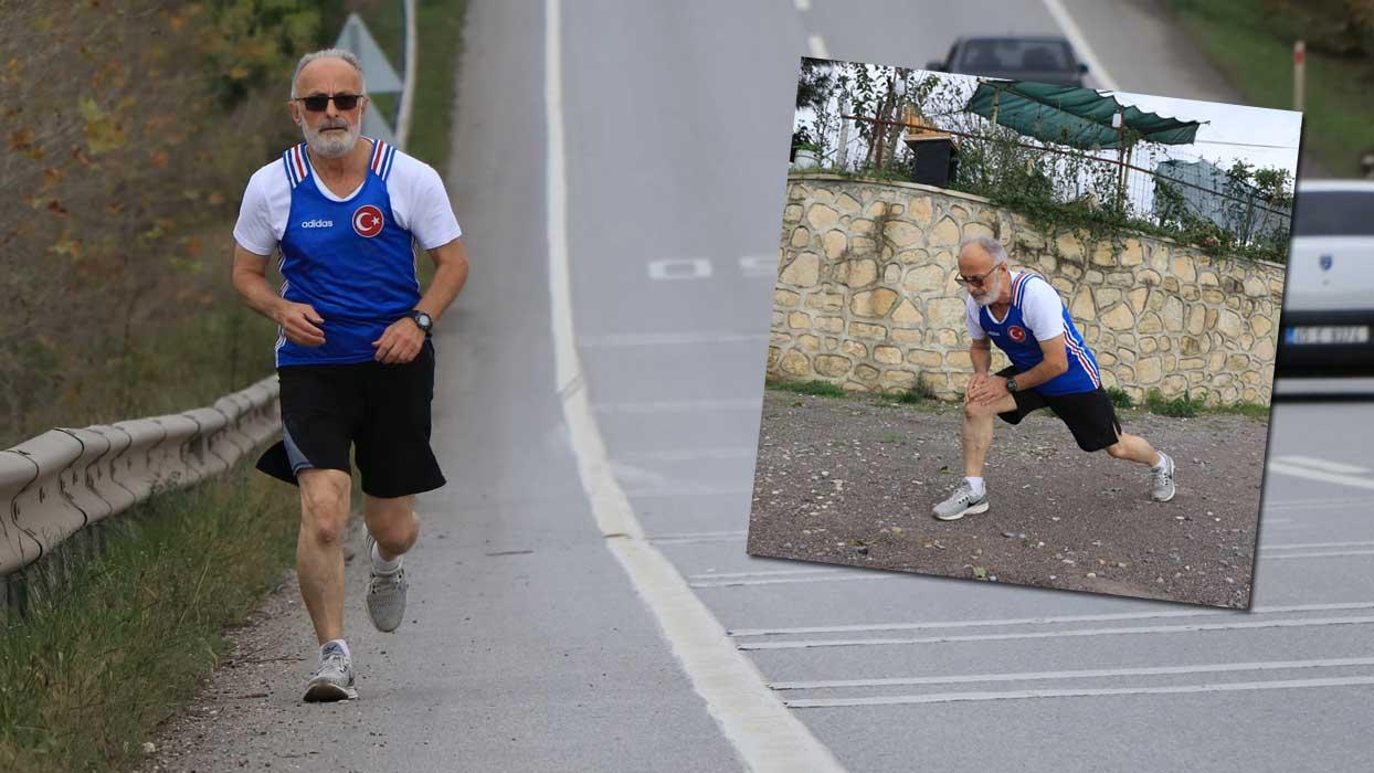 Maratona katılamadı... Kendi parkurunu oluşturdu