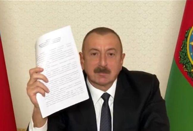 Aliyev'den zafer açıklaması: Sıçan gibi anlaşmayı imzalayacak