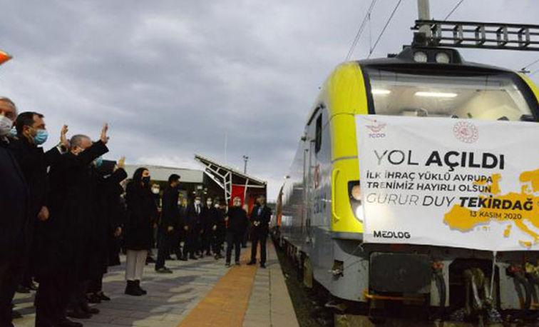 Şentop, Avrupa'ya açılan ilk ihracat yük trenini Bulgaristan'a yolcu etti