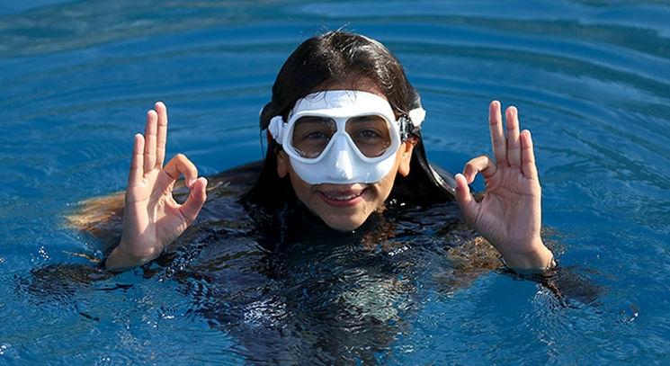 Serbest dalışçı Fatma Uruk dünya rekoru kırdı