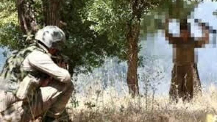 İkna edilen terörist Hakkari'de güvenlik güçlerine teslim oldu