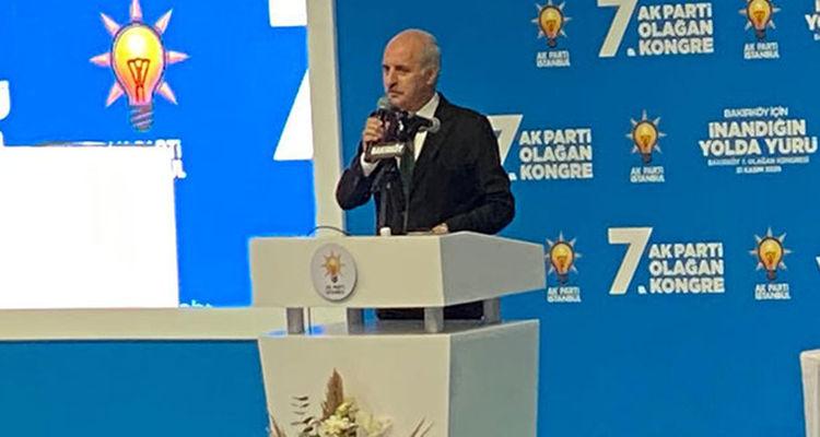 Numan Kurtulmuş partisinin Bakırköy ilçe kongresinde konuştu