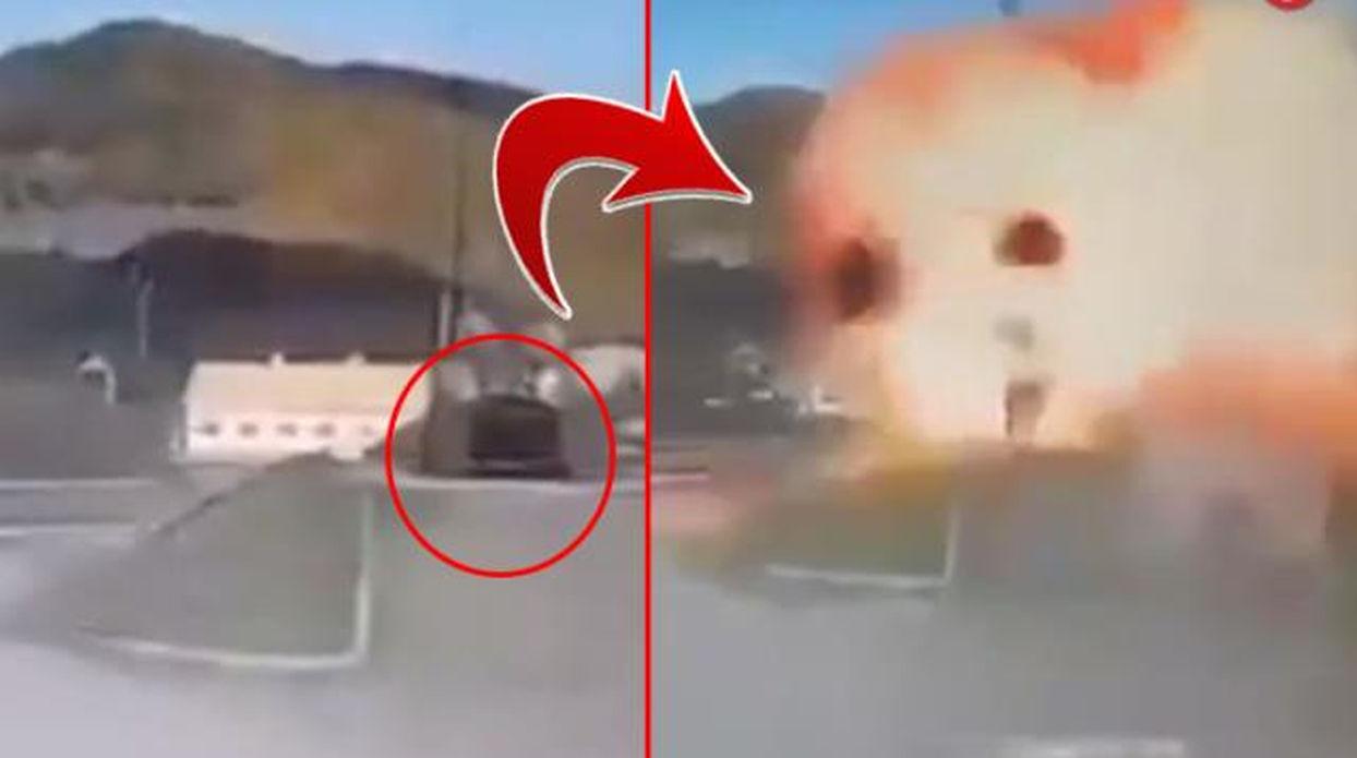 Ermenistan medyası Azerbaycan'ın Ermeni S-300'ünü yok ettiği görüntüyü yayınladı