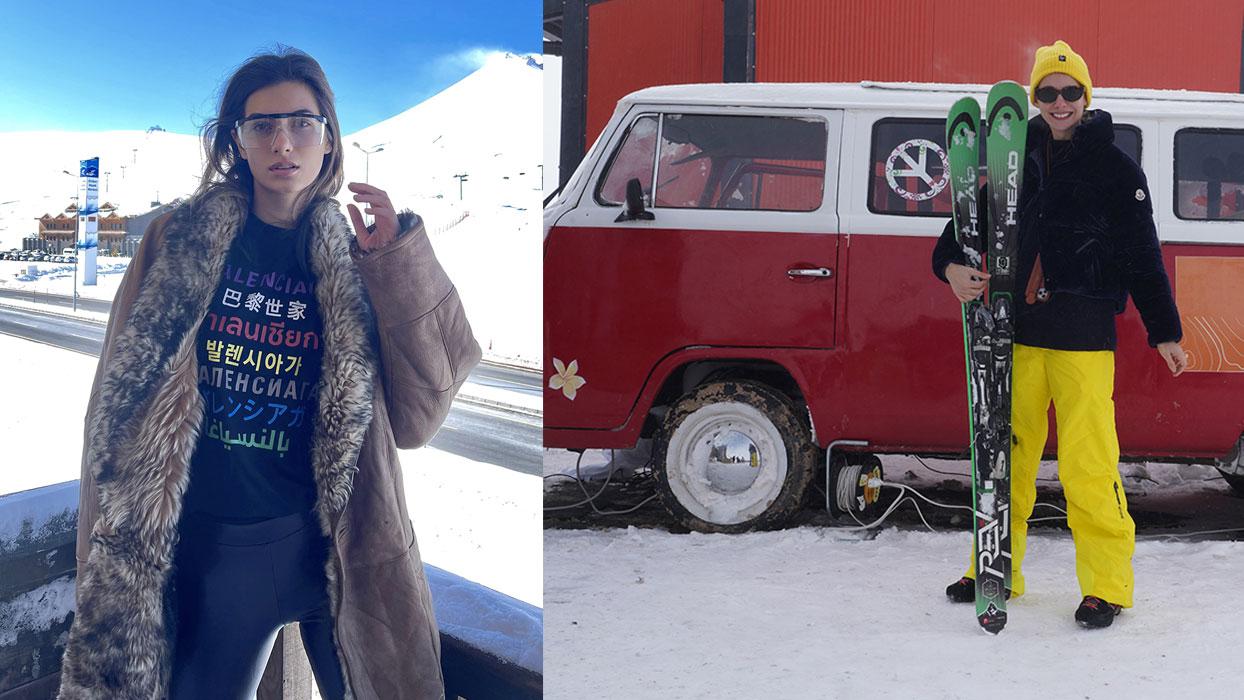 Tuba Ünsal ile Buse İskenderoğlu'nun kayak keyfi!