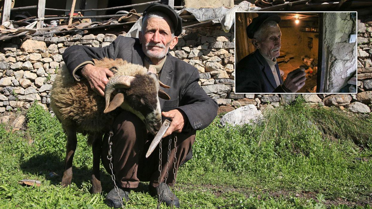 69 yılını geride bıraktı, kuzusunu bırakamadı