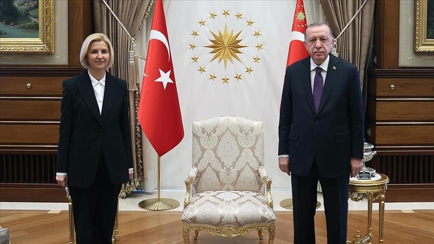 Başkan Erdoğan, Gagavuz Özerk Yeri Başkanı Irina Vlah'ı kabul etti