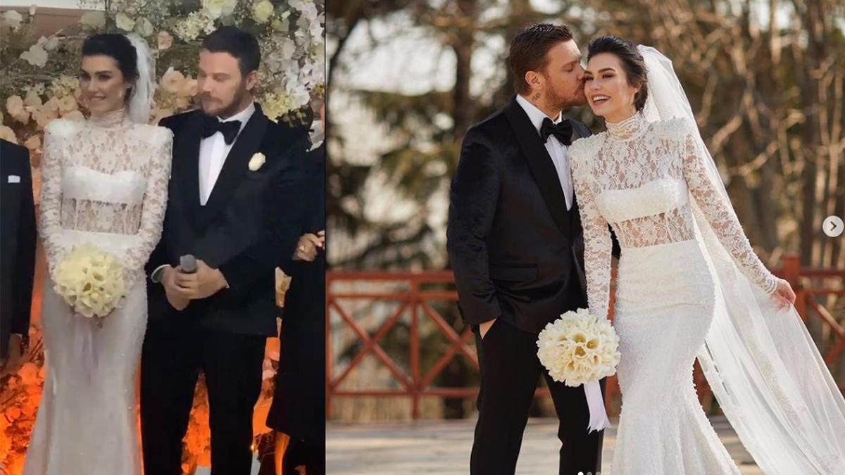 Sinan Akçıl Burcu Kıratlı çifti 2. kez evlendi