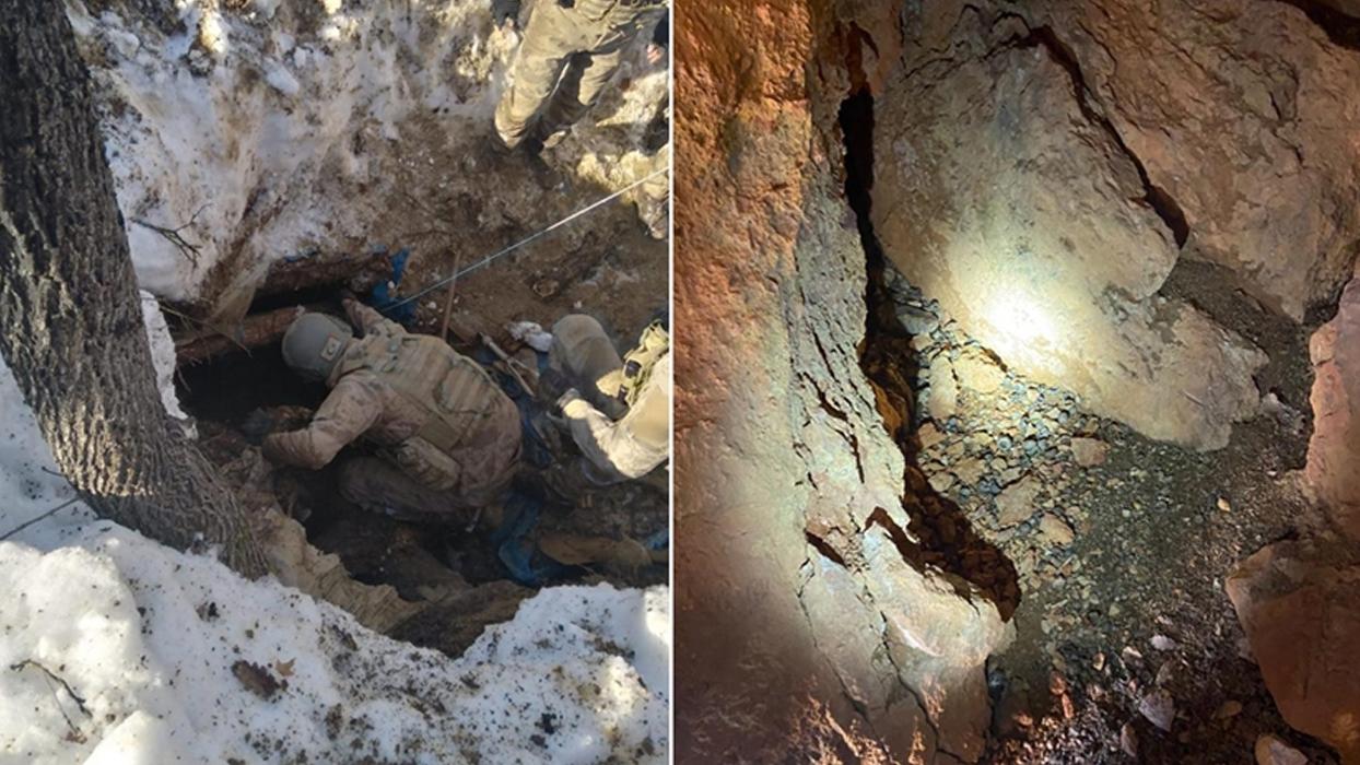 Tunceli'de teröristlerin kullandığı 3 sığınak imha edildi
