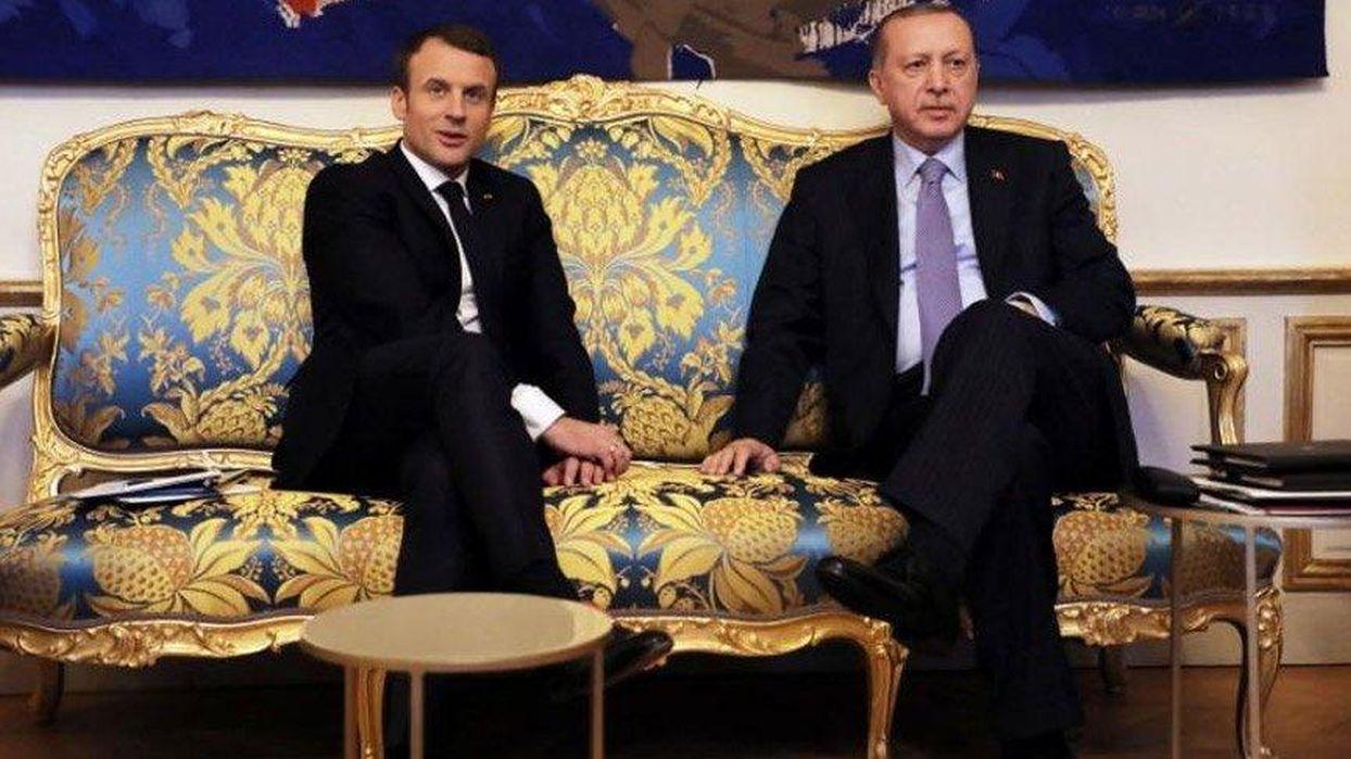 Başkan Erdoğan, Macron ile görüştü