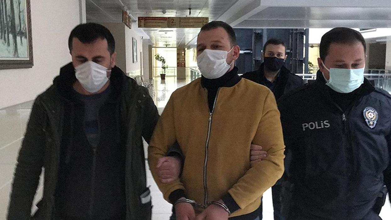 Samsun'da eşini darbeden cani tutuklandı