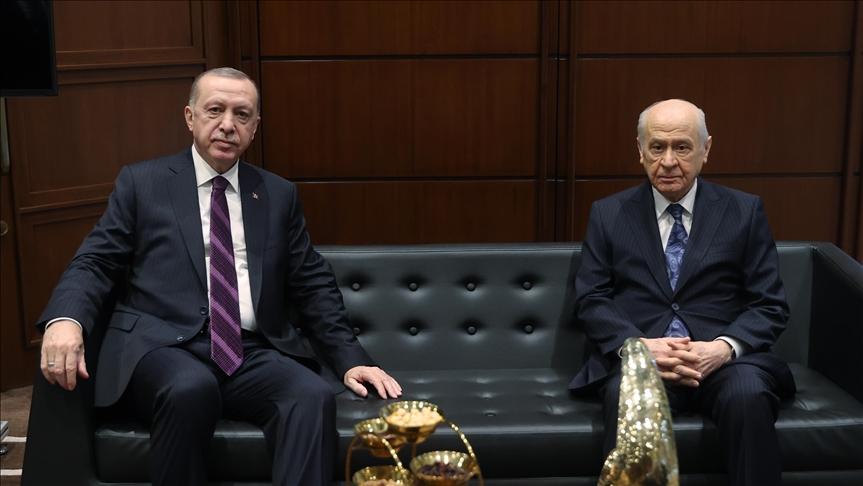 Başkan Erdoğan'dan Bahçeli'ye tebrik telefonu