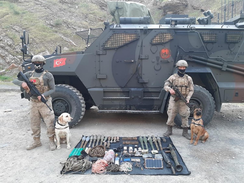 PKK'ya ait mühimmat ve patlayıcılar ele geçirildi