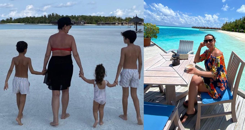 Torunlarla Maldivler tatili